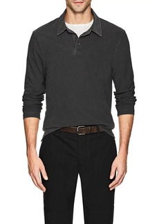 James Perse Men's Cotton Long Sleeve Polo Shirt