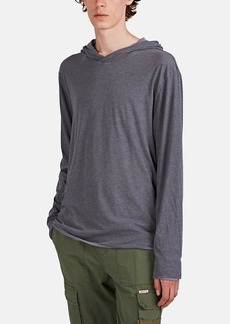 James Perse Men's Double-Layered Cotton Jersey Hoodie