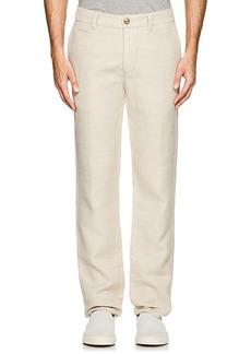 James Perse Men's Herringbone-Weave Cotton-Linen Trousers