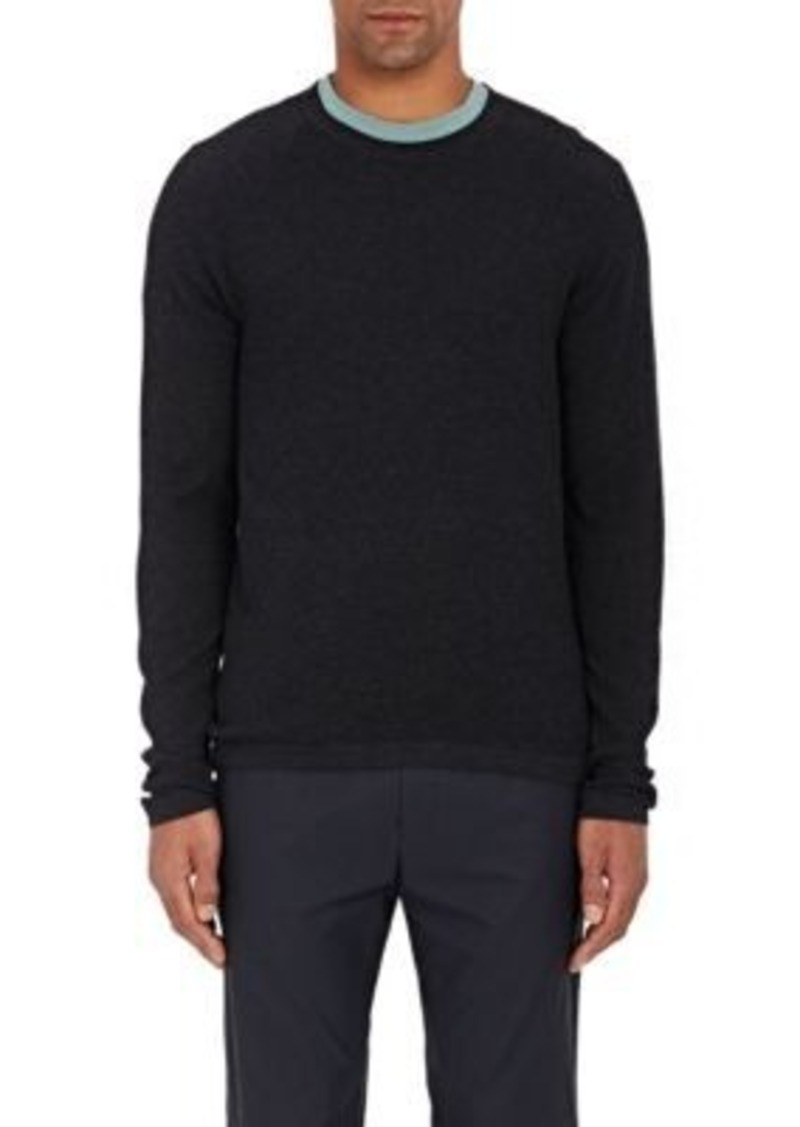James Perse Men's Thermal Henley-Blue Size 2