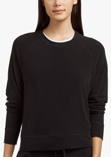 James Perse MICRO SUEDE SWEAT TOP