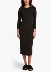 James Perse MICRO SUEDED CREW NECK DRESS