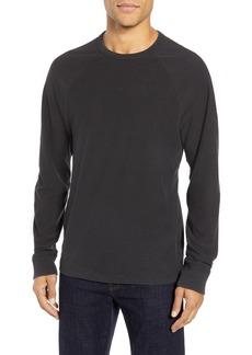James Perse Microstripe Long Sleeve Raglan T-Shirt