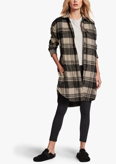 James Perse MILITARY PLAID SHIRT JACKET