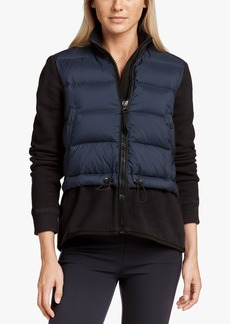 James Perse MIXED MEDIA PUFFER JACKET