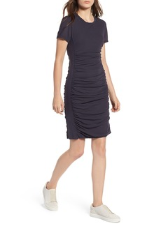 James Perse Mixed Media Side Panel Dress