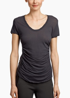 James Perse MIXED MEDIA SIDE PANEL TEE