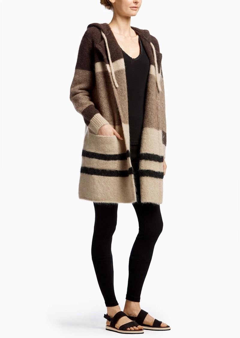James Perse MOHAIR PATCHWORK COAT
