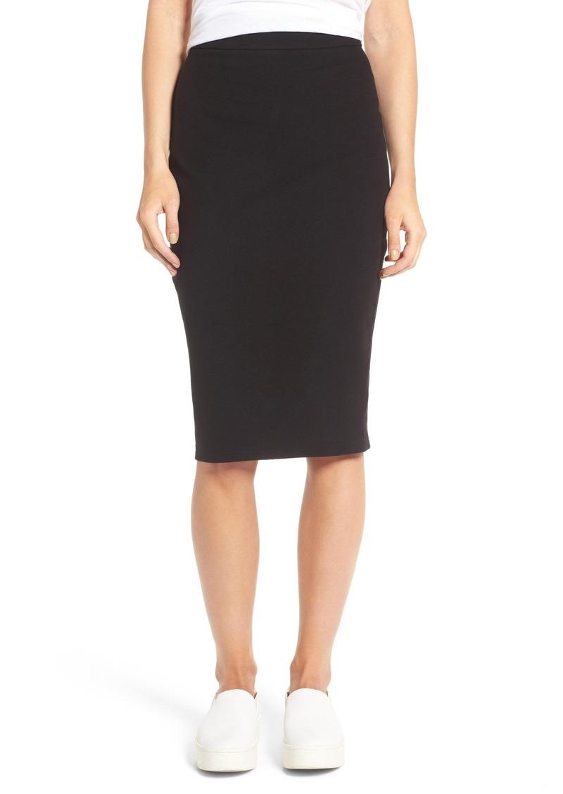 James Perse Moleskin Zip Back Skirt
