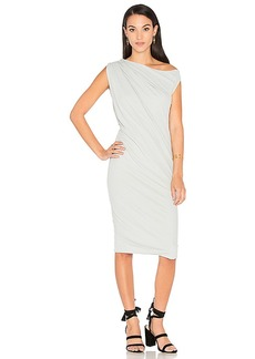 James Perse One Shoulder Draped Dress in Gray. - size 0 (XXS/XS) (also in 1 (XS/S),2 (S/M),3 (M/L))