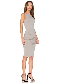 James Perse Open Back Skinny Dress in Gray. - size 0 (XXS/XS) (also in 1 (XS/S),2 (S/M),3 (M/L))