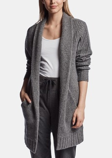 James Perse OPEN RIBBED CASHMERE CARDIGAN