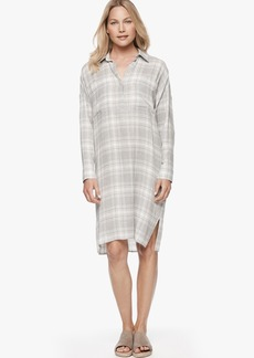 James Perse OVERSIZED PLAID SHIRT DRESS