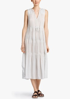 James Perse PAISLEY PRINT PLEATED DRESS