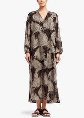 James Perse PALM PRINT MAXI SHIRT DRESS