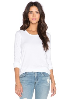 James Perse Pleated Back Long Sleeve Top