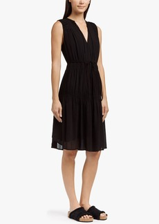 James Perse PLEATED CHIFFON SUN DRESS