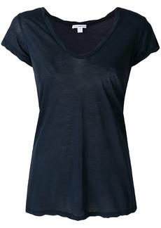 James Perse plunge neck T-shirt - Blue