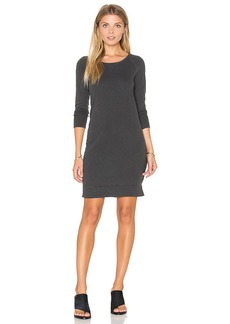 James Perse Raglan Sweatshirt Dress in Charcoal. - size 0 (XXS/XS) (also in 1 (XS/S),2 (S/M),3 (M/L))