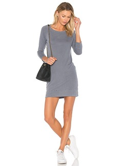 James Perse Raglan Sweatshirt Dress in Gray. - size 0 (XXS/XS) (also in 2 (S/M),4 (L/XL))