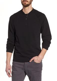 James Perse Regular Fit Half Zip Baseball Pullover