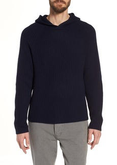 James Perse Regular Fit Rib Knit Cashmere Hoodie