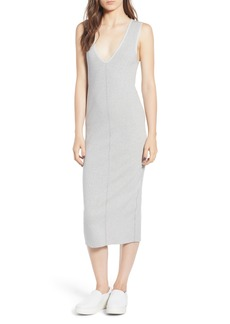 James Perse Rib Knit Midi Dress