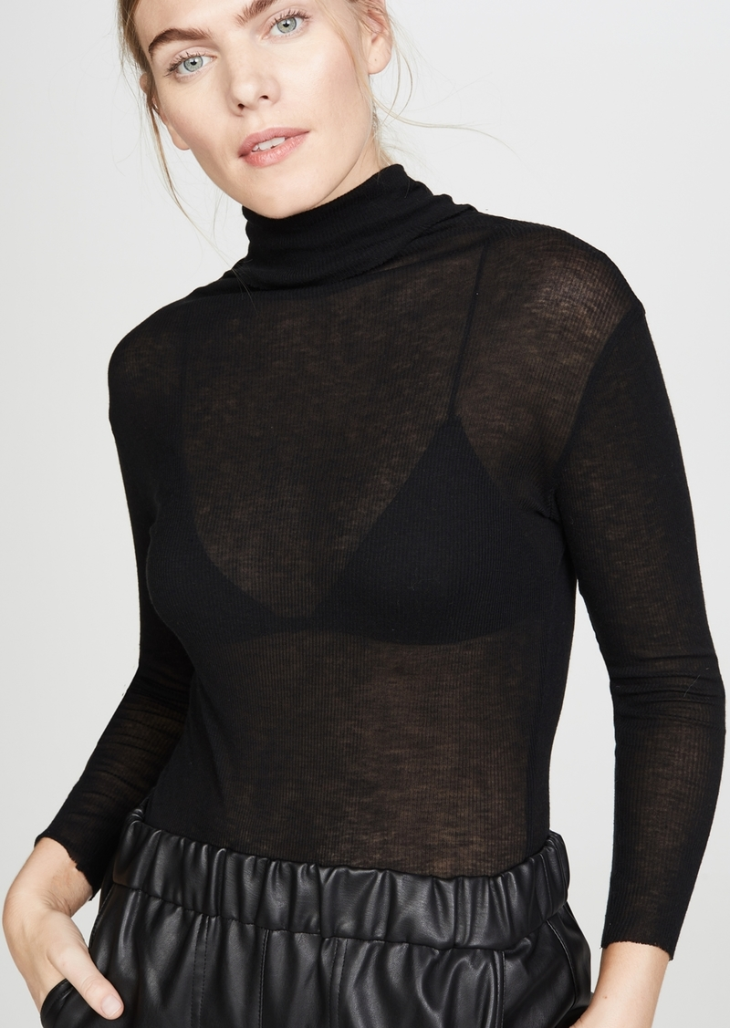 James Perse Rib Turtleneck