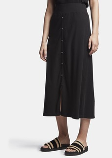 James Perse RIBBED BUTTON FRONT SKIRT