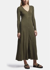 James Perse RIBBED CARDIGAN DRESS