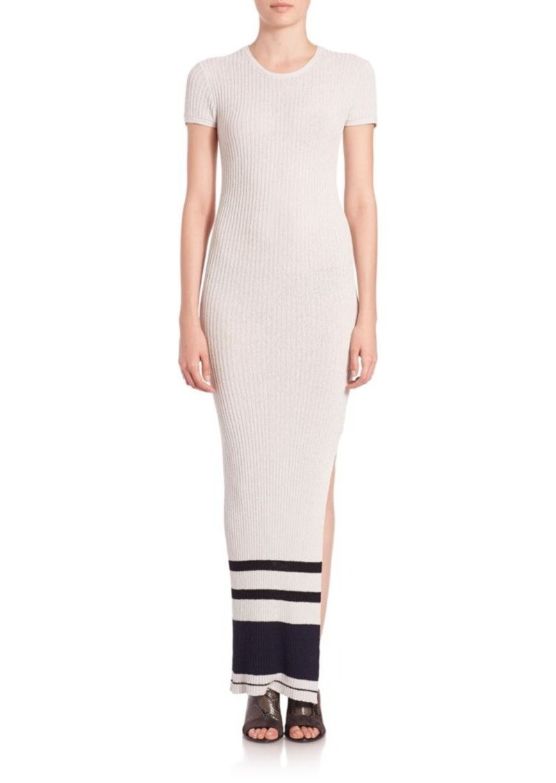 James Perse Ribbed Cotton-Terry Sweater Dress