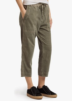 James Perse RIGID JERSEY CROPPED CARGO PANT