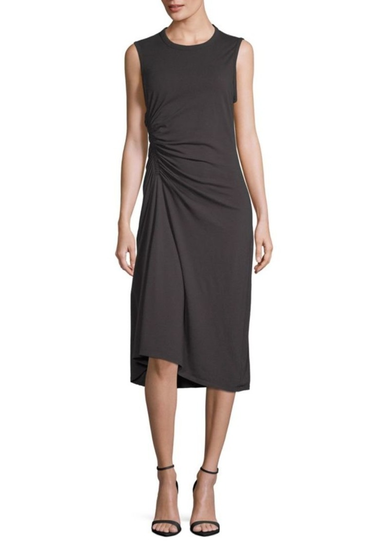 James Perse Ruched-Front Sleeveless Dress