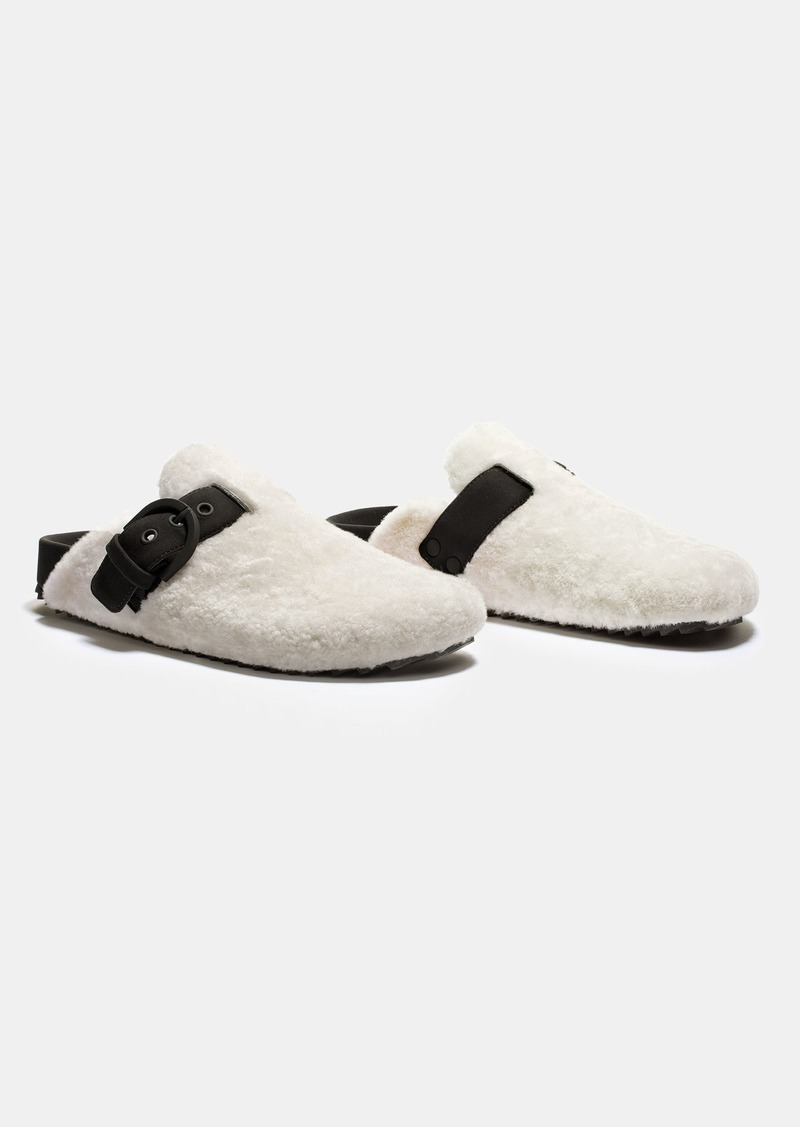 James Perse SHEARLING SLIP-ON CLOG - WOMENS