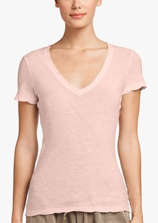 James Perse SHEER SLUB CASUAL V-NECK