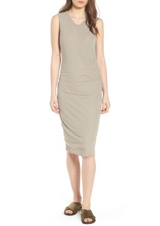 James Perse Shirred Midi Dress