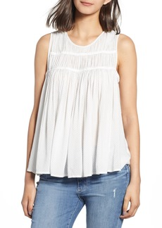 James Perse Shirred Swing Tank