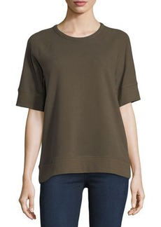 James Perse Short-Sleeve Raglan Pullover Top