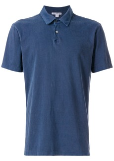 James Perse short sleeved polo shirt - Blue
