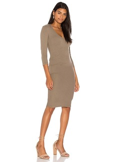 James Perse Skinny Tucked Dress in Green. - size 0 (XXS/XS) (also in 1 (XS/S),2 (S/M),3 (M/L),4 (L/XL))