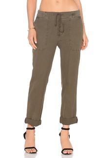 James Perse Slim Cotton Linen Trouser