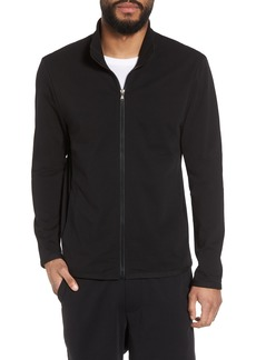 James Perse Slim Fit Compact Terry Zip Jacket
