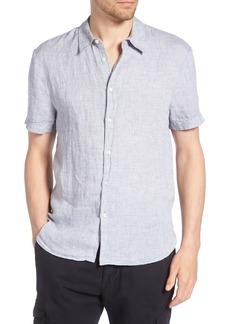 James Perse Slim Fit Linen Sport Shirt