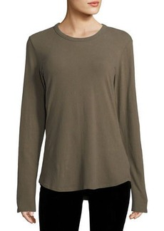 James Perse Soft Brush-Jersey Long-Sleeve Tee
