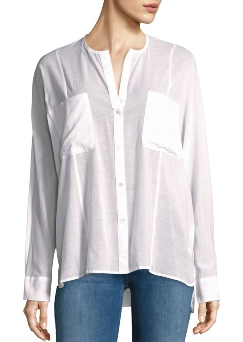 James Perse Solid Button-Down Shirt