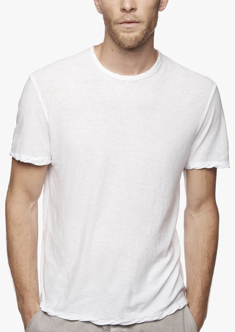 James perse james perse spaced jersey contrast stitch tee for James perse t shirts sale