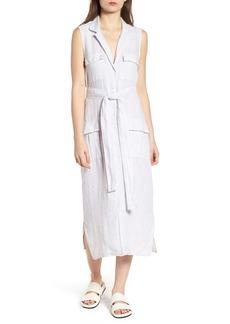 James Perse Stripe Linen Shirtdress