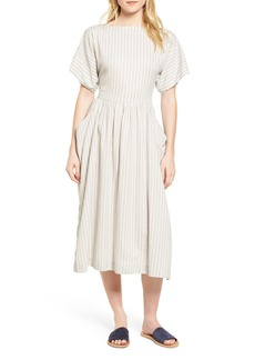 James Perse Stripe Midi Dress