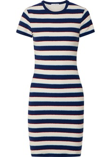 James Perse Striped Cotton-jersey T-shirt Dress