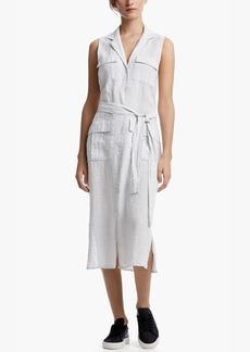James Perse STRIPED LINEN SHIRT DRESS